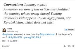 NY Times Korrektur